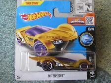 Hot Wheels 2016 #020/250 BLITZSPEEDER jaune X-Racers étui M Nouveau Fonte