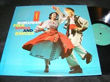 RUMANIAN Folk Songs and Dances MONITOR World Music LP ROMANIA 1958 Nice Cover