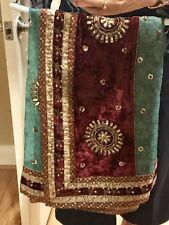 Hand Work SAREE, Dupatta, Indian, Pakistani, Bollywood, Chiffon/Georgette Fabric