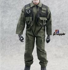 "1/6 Hot F14/F15 Suit Clothes Jumpsuits Coveralls For 12"" Action Figure Toys"