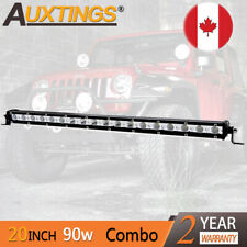 Mini 20inch 90W Led Light Bar Combo Single Row Work Driving Lights 4x4 SUV 20''