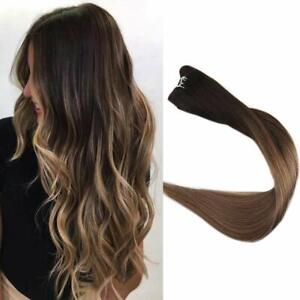 Full Shine Hair Weft Ombre Sew in Hair Extensions Balayage Hair Weft Color