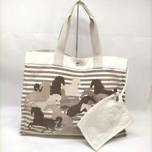 Hermes Shoulder Bag  Whites Canvas 1906759