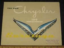 1952 Chrysler Saratoga Folder Sales Brochure