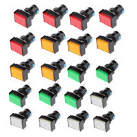 20Pack LED Illuminated Square Push Button DC 12V Switch fit for Contactor