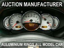 Pour Porsche 911 996 1998-2005 Anneaux De Compteurs Chromes Aluminium Poli x5