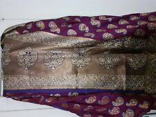 Saree Sari Purple Magenta Stone Work Diwali Eid Wedding