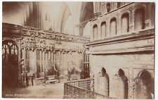 London; Westminster Abbey, Coronation Chairs RP PPC, Unposted, Inscribed To Rev
