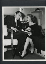LAUREN BACALL + GREGORY PECK CANDID - 1957 DBLWT. EXCELLENT CONDITION PHOTO