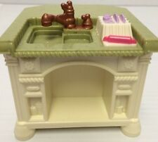 FISHER PRICE LOVING FAMILY DOLLHOUSE KITCHEN SINK ISLAND Dishes Drainer NICE!