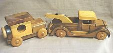 Rare WOODEN TOW TRUCK & CAR Hand Crafted by RAY WILLIAMS