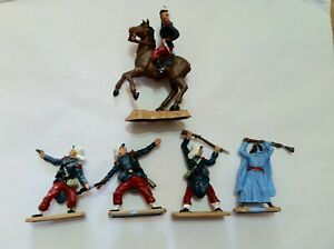 CRESCENT FRENCH FOREIGN LEGION & ARAB VINTAGE 1960's PLASTIC TOY SOLDIERS VGC
