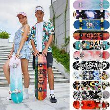 Skateboard Longboard Holzboard Funboard Cruiser Komplettboard für Anfänger DE