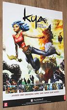 Kya Dark Lineage very rare Promo Poster 84x59.5cm Playstation 2 Atari