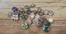 12mm Button Snaps Charms - Fits Ginger Petite Brand - 5pc Mix Snap Lot