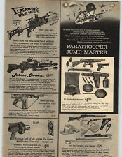 1965 PAPER AD Toy Screming Mee Mee Johnny Seven Paratrooper Rifle Gun Zero M ISA