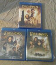 3 Lord of The Rings Blu-Ray - Two Towers, Return King, Fellowship Ring - BNew