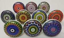 MultiColor Ceramic Knobs Kitchen Cabinet Knobs Ceramic Door Knobs Lot of 20