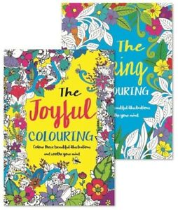 2x Large Adult Colouring Anti-Stress Colour Therapy/48 Pages Total Relaxation