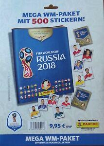 PANINI WM 2018 MEGA WM PAKET 500 STICKER + LEERALBUM