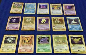 *Complete fossil set* vintage Pokémon cards 62/62 NM condition garage sell