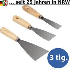 3x Spachtel Holzspachtel Malerspachtel Spachtelset Malspachtel Tapeten  Set