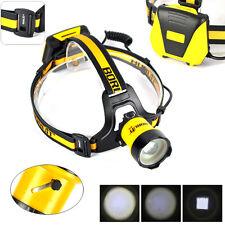 B16 XM-L2 LED Zoomable Headlamp BORUiT 4AA Headlight 4 Mode Torch W/SOS Whistle