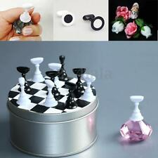 12Pcs Chess Board Magnetic Nail Tip Crystal Stand Set Salon Display Holder Set
