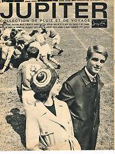 PUBLICITE ADVERTISING 064  1963  JUPITER   vetements de pluie & voyage