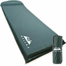 WELLAX UltraThick FlexFoam Sleeping Pad - Self-Inflating 3 Inches Camping Mat fo
