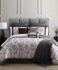 Hallmart Collectibles Omana Floral 14 Piece King Comforter Set Wine $460