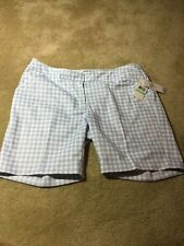 Women's Callaway Chambray Blue Golf Shorts Size 8 New With Tags