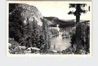 RPPC REAL PHOTO POSTCARD CALIFORNIA MAMMOTH LAKES TWIN LAKES FROM WINDYRIE WILLA