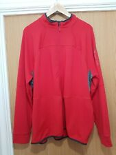 Mens RED The North Face Sports Zip Up Track Long Sleeve Top XL Explorer Gear