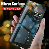 For Huawei P Smart 2020 P30 P40 Pro Lite Smart Clear View Mirror Flip Case Cover