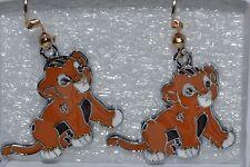 Adorable New n Unused Set of DISNEY'S Simba the Lion King Cub Enamel Earrings