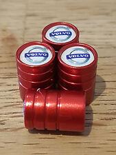 VOLVO WHITE TOP RED DELUXE car Valve Alloy wheel dust Caps XV60 S60 XC90 S90 V60