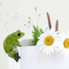 Miniature Dollhouse FAIRY GARDEN - Frog Flower Pot Hugger - Accessories