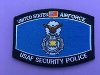 USAF SECURITY POLICE PATCH MEASURES 4 1/2 X 3 1/4 INCHES