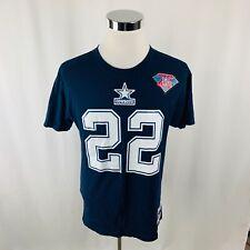 Dallas Cowboys Emmitt Smith Mitchell & Ness Navy Blue T-Shirt Medium M