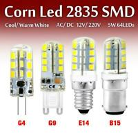 1/4/8x LED Corn Bulb G4/G9/E14/B15 2835SMD Cool Warm White 3/3.5/5W 12/220V Lamp