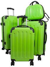Reisekoffer Set Hartschalenkoffer Trolley Beautycase Mauritius Grün