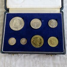 SOUTH AFRICA 1963 7 COIN PROOF YEAR SET WITH SILVER - SAM BOX