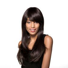 Perruque 100% Vrais Cheveux Humains Naturel Couleur Complète Couvert 6# 60CM