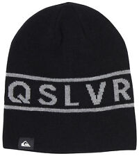Quiksilver Mens Knox Reversible Beanie - Black/Gray & Black