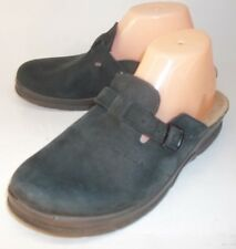 Fly Flot LONELAST Wos Shoes Clogs Slides EU 41 US 9.5 Black Leather Buckle Hike