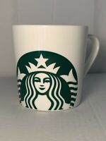 17 oz Starbucks Logo Coffee Tea Cup Mug Mermaid LARGE white green