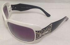 Sunglasses Women's Fashion Shades Designer White/Black Jeweled Oversized Eyewear