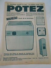 Pub 1967  Potez chauffage Mazout ou Gaz...