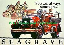 Billboard for Plasticville Holder You Can Always Count on Seagrave Fire Truck